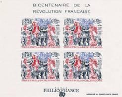 N°1 Bloc Neuf **. BIcentenaire De La Révolution Française - Blocs-feuillets