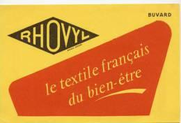 Buvard  Marque  RHOVYL  Le Textile Français Du Bien-être - Papel Secante