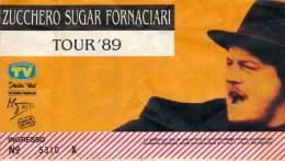 PALERMO ZUCCHERO SUGAR FORNACIARI TOUR '89 - Biglietti Per Concerti