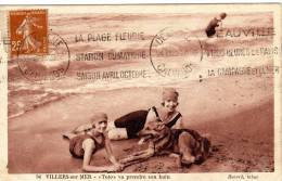 DPT 14 VILLERS SUR MER  Toto Va Prendre Son Bain - Villers Sur Mer