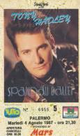 PALERMO TONY HADLEY E SPANDAU BALLET 1987 - Biglietti Per Concerti