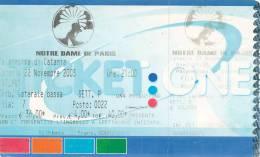 CATANIA NOTRE DAME DE PARIS 2003 - Biglietti Per Concerti