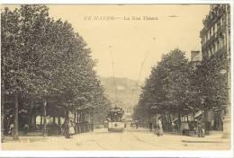 Carte Postale Ancienne Le Havre - La Rue Thiers - Tramway Pp - Le Havre