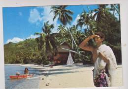 CPM     UNE PLAGE EN POLYNESIE - Polynésie Française
