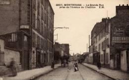 DPT 92 MONTROUGE La Grande Rue Prise De L'avenue De Chatillon - Montrouge