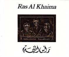 Ras Al Khaima, De Gaulle Visit To Germany Souvenir Sheet Limited Issue GOLD,MNH- Scarce-SKRILL PAY ONLY - Ras Al-Khaima
