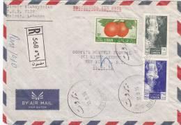Lebanon, Commercial Registr.cover Sent 1956 To USA Frnaked Jetita Stamps +fruit,nice Cancelat.& Fine Condit-SKRILL PAY - Lebanon