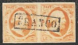 HOLANDA 1852 - Yvert #3 - VFU (Pareja) - Periode 1852-1890 (Willem III)