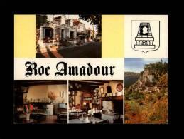 46 - ROCAMADOUR - Hostellerie-Restarant Bellevue - L'Hospitalet - Multi Vues - Carte Pub - Rocamadour