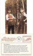 Postcard Hop Picking Kent Tallying Off Tallyman Pickers Nostalgia Repro - Paesani