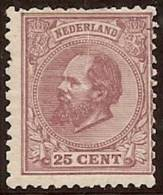 HOLANDA 1872/88 - Yvert #26 - MLH * - Periode 1852-1890 (Willem III)