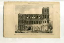 - FRANCE . PORTE A TREVES . GRAVURE SUR ACIER DE LA 1ere 1/2 DU XIXe S. - Archaeology