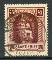 Sarre -Piéta De Blieskastel YT 101 Obl. / Saargebiet- Madonna Von Blieskastel Mi.Nr. 102 Gest. - 1920-35 Société Des Nations