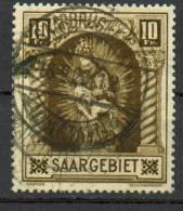 Sarre -Piéta De Blieskastel YT 102 Obl. / Saargebiet- Madonna Von Blieskastel Mi.Nr. 103 Gest. - 1920-35 Société Des Nations