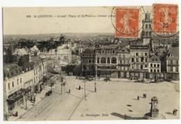02 - SAINT-QUENTIN. -  Grand´ Place Et Beffroi. - Saint Quentin