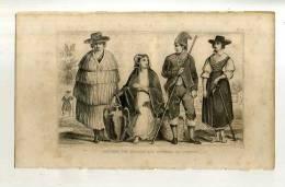 - PORTUGAL . COSTUMES DES PAYSANS AUX ENVIRONS DE LISBONNE . GRAVURE SUR ACIER DE LA 1ere 1/2 DU XIXe S. - Estampes & Gravures