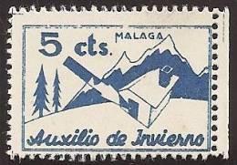 ESPAÑA - GUERRA CIVIL 1936/39 - Galvez #27 - LOCALES MÁLAGA (Auxilio De Invierno) - Franquicia Militar