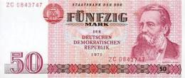 DDR Banknote - 50 Mark Der DDR, Ro. 360 B ( Replacement, Ersatzbanknote, Präfix - ZC ) 1971, UNC ! - [ 6] 1949-1990 : RDA - Rep. Dem. Tedesca