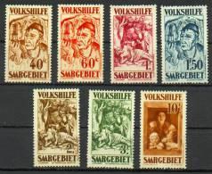 Sarre -Secours Populaire Tableaux YT 141-147* / Saargebiet- Volkshilfe Mi.Nr. 144-150* - 1920-35 Società Delle Nazioni