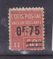 FRANCE COLIS POSTAUX N°91 2F30 S 50C ROUGE VALEUR DECLAREE OBL - Colis Postaux