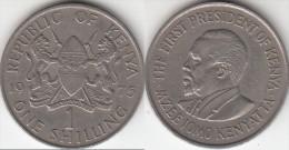 KENYA 1 Shilling 1975 KM#14 - Used - Kenia