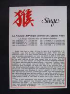 CP Carte Postale La Nouvelle Astrologie Chinoise De Suzanne White : SINGE - Astrologia