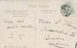 P/HISTORY -1905 SINGLE CIRCLE CANCELLATION - BURTON LATIMER - Postmark Collection