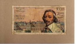 1000 Francs Richelieu 3/3/55 Fayette 42/11 - 1 000 F 1953-1957 ''Richelieu''