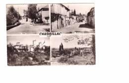46 Cardaillac Carte 4 Vues Vues Générales , Le Pont , La Rue Principale - Other Municipalities