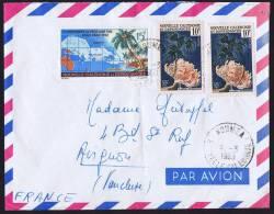 1963 Lettre De Nouméa Pour La France  Corail, Carte Du Pacifique Sud  Yv 293 X 2, 305 - Briefe U. Dokumente