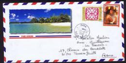 1998  Lettre De Pea Pour La France   Colliers De Fleurs 80F,  Tifaifai 5f Yv 574, 534 - Polynésie Française