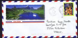 2000 Lettre De Punaaula  Bonne Fête Maman  Yv 603 - Polynésie Française