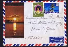 1979  Lettre De Papeete Pour La France   Roi Pomaré 1er,  Faré Yv PA106, 137 - Polynésie Française