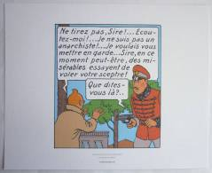 EX-LIBRIS HERGE - TINTIN - MOULINSART 2010 - LE SCEPTRE D´OTTOKAR PL 40 Strip6 - Illustrateurs G - I