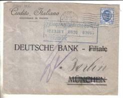 VER2384A - REGNO 1,25 Per La Germania. PERFIN Credito Italiano Sede Trento - 1900-44 Vittorio Emanuele III