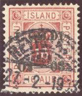 Island Dienst 1876 Mi#6A Gestempelt 1903-02-27 Rey... - Islande