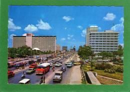 Jakarta    Traffic At Thamrin Boulevard   Cpsm  Animée  Année 1988 - Indonesien