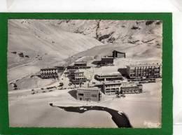 73  STATION DU LAC DE TIGNES VUE GENERALE AERIENNE  CPSM Grd Format Dentellée Année 1962 - Otros Municipios