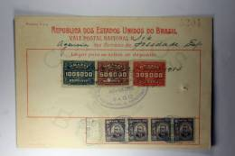 Brasil Vale Postal Nacional, Postal Payment, 1914 Mixed Stamps - Brieven En Documenten