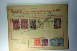 Brasil Vale Postal Nacional, Postal Payment, 1930 Mixed Stamps - Briefe U. Dokumente