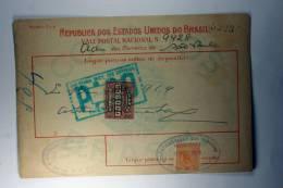 Brasil Vale Postal Nacional, Postal Payment, 1919 Mixed Stamps - Brazilië