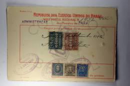 Brasil Vale Postal Nacional, Postal Payment, 1916 Mixed Stamps - Brazilië