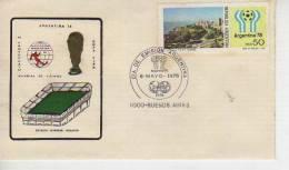 CAMPEONATO MUNDIAL DE FUTBOL  ARGENTINA 1978   FDC OHL - FDC