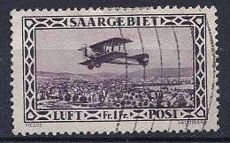 Sarre -Poste Aérienne YT 2 Obl. / Saargebiet -Luftpost Mi.Nr. 127 Gest. - Poste Aérienne