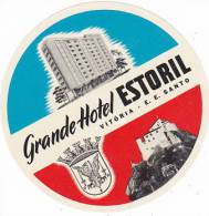 BRASIL VITORIA GRANDE HOTEL ESTORIAL VINTAGE LUGGAGE LABEL - Etiketten Van Hotels