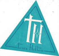 TUNISIA TUNIS HILTON HOTEL VINTAGE LUGGAGE LABEL - Etiketten Van Hotels