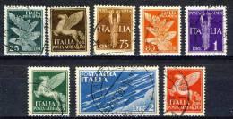 Regno VE3, 1930-32 Posta Aerea, Serie 1502, N. 10-17 Usati - 1900-44 Victor Emmanuel III.