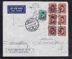 E-AFR-03 LETTER FROM EGYPT CAIRO TO CZECHOSLOVAKIA 02.02.1937 - Egypt