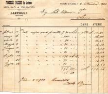 1900  FATTURA CASTELLO SOPRA LECCO MOLINO A CILINDRI - Italia