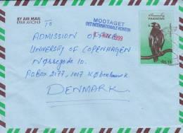 Pakistan Airmail Par Avion Postal Stationery Ganzsache Entier LAHORE CANTI 1999 Cover To Denmark Bird Vogel Eagle Adler
